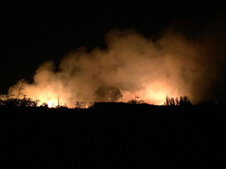 Fire near Kouris dam contained
