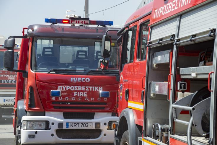 Larnaca building evacuated because of fire