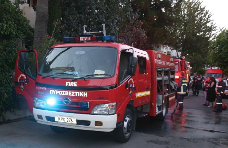 Fire raging near Paphos-Polis road