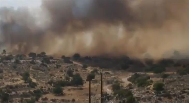 Fire raging at Erimi