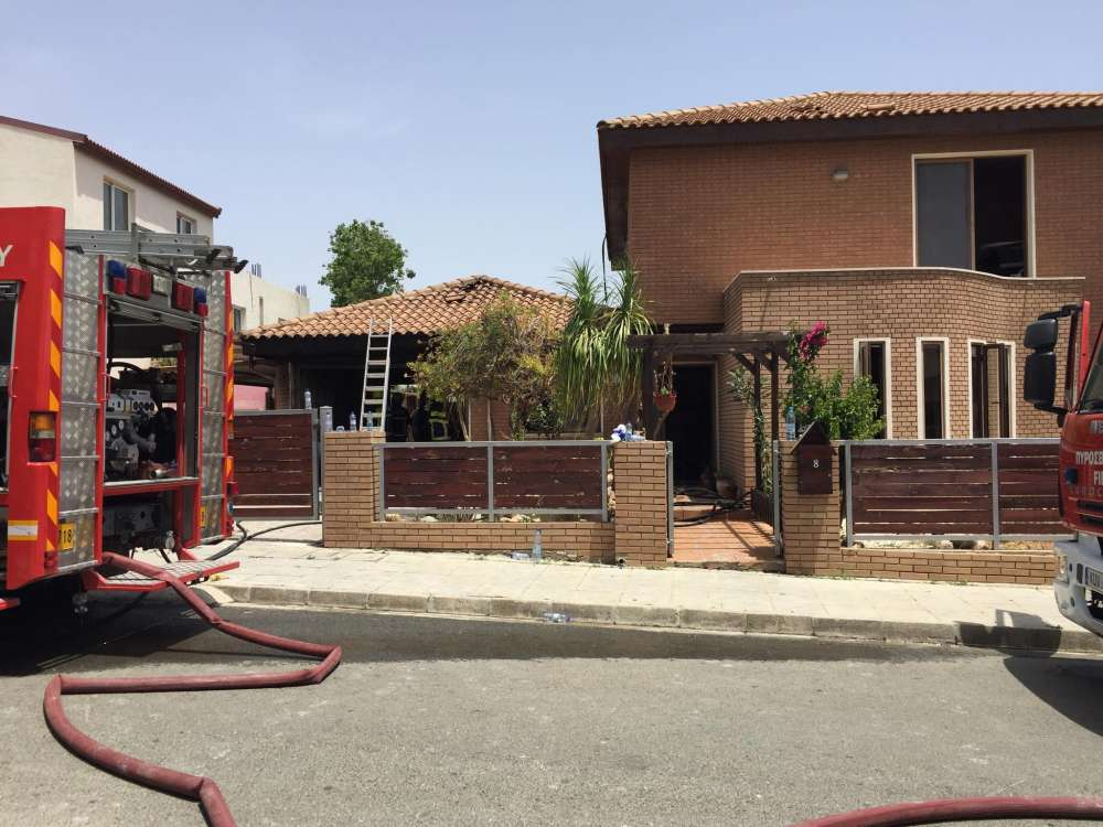 Man in hospital with serious burns after fire in Limassol home