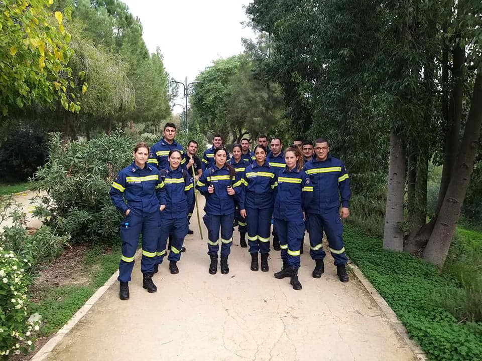Cadet fire fighters plant trees