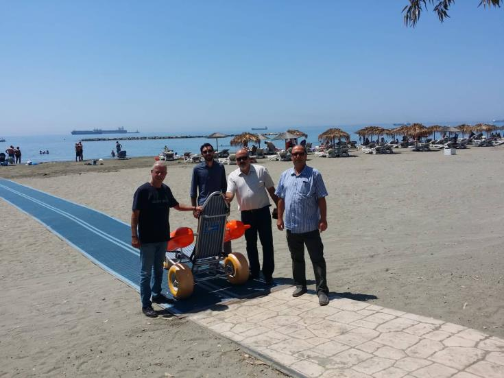 Limassol acquires second beach ramp for disabled
