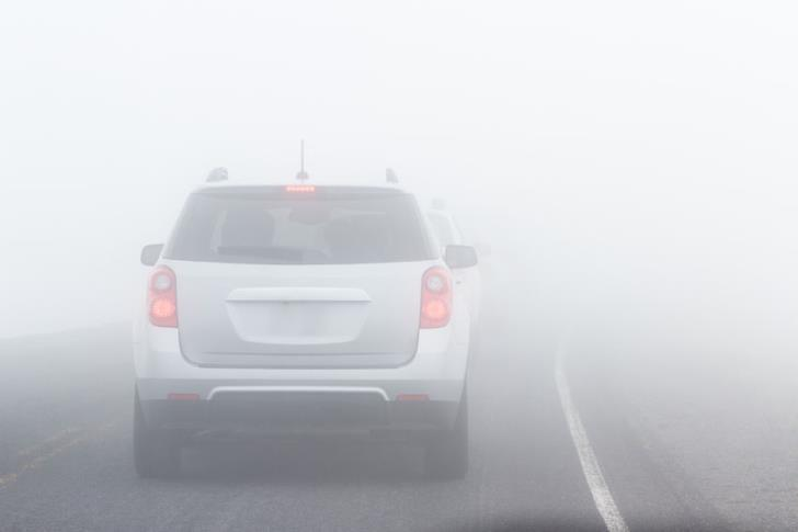 Thick fog on Nicosia-Limassol highway
