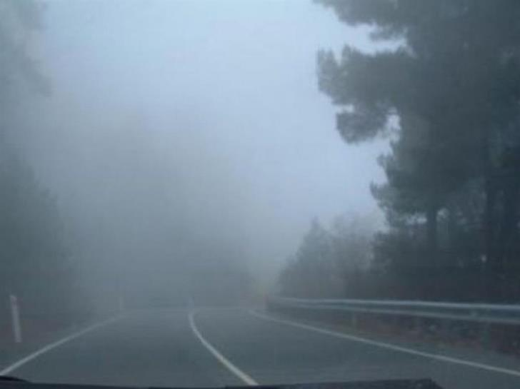 Thick fog in Troodos