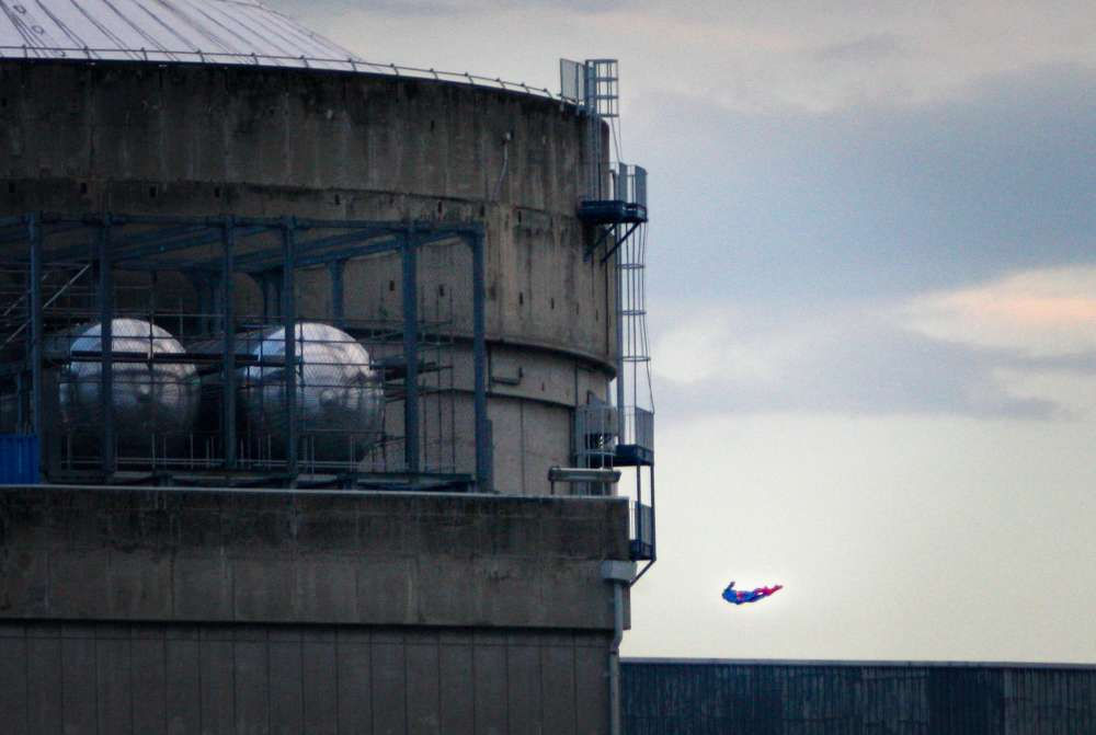 Greenpeace crashes Superman-shaped drone into French nuclear plant