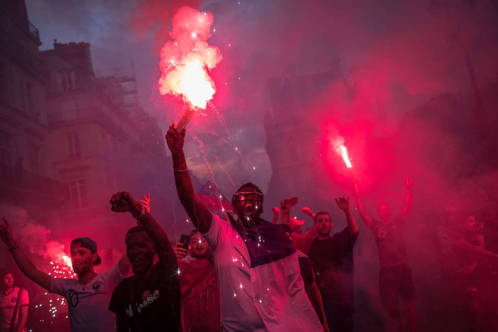 French police clash with unruly fans