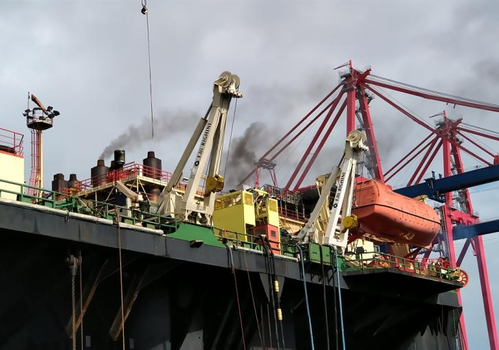Update: Fire on rig at Limassol port under control