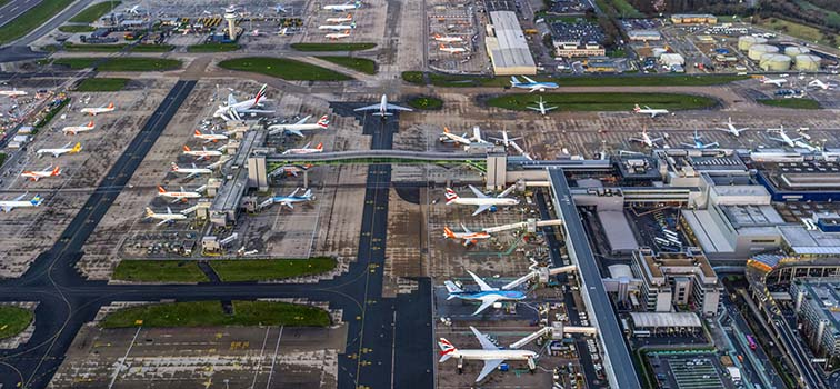Flights suspended at Gatwick airport after reports of drones