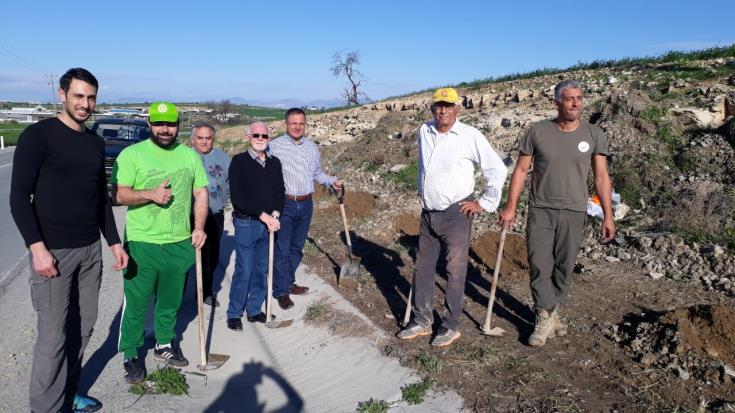 Greens plant 200 trees along Athienou-Avdillero road