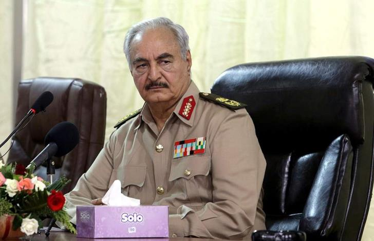 Libyan forces loyal to Haftar announce ceasefire