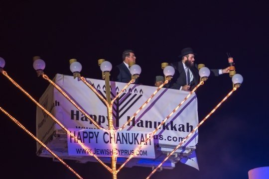 Cypriot authorities honour Jewish Holiday of Chanukah