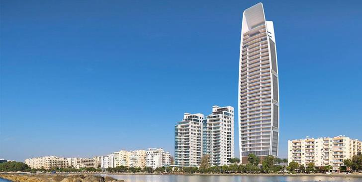 Water pumped from the sea to the land for Cyprus' high-rise buildings