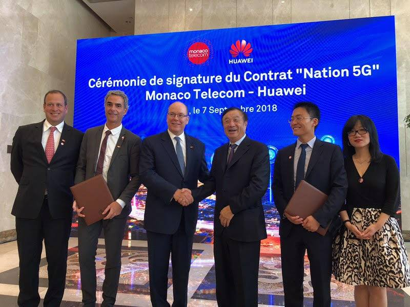 Monaco Telecom and Huawei sign agreement to make Monaco first country with full 5G coverage