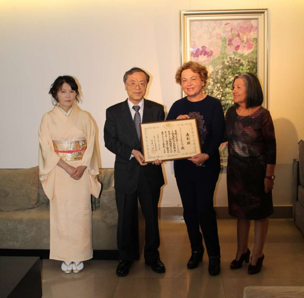 Japanese Embassy awards Cyprus Ikebana Club for contribution to culture