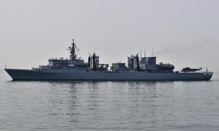 Limassol port welcomes Italian Command and Logistic Support Ship Etna
