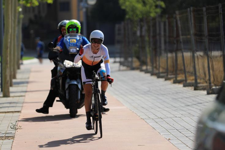 Cyclist Andri Christoforou wins Bronze in Tarragona Mediterranean Games
