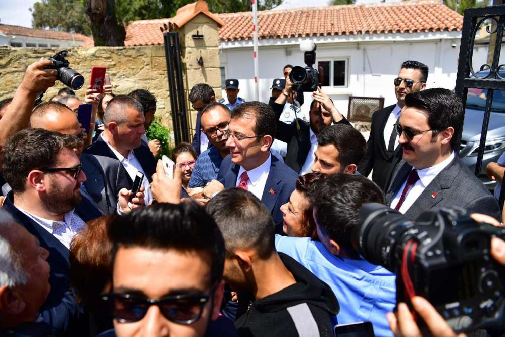 Ousted Istanbul mayor Imamoglu pays visit to occupied north