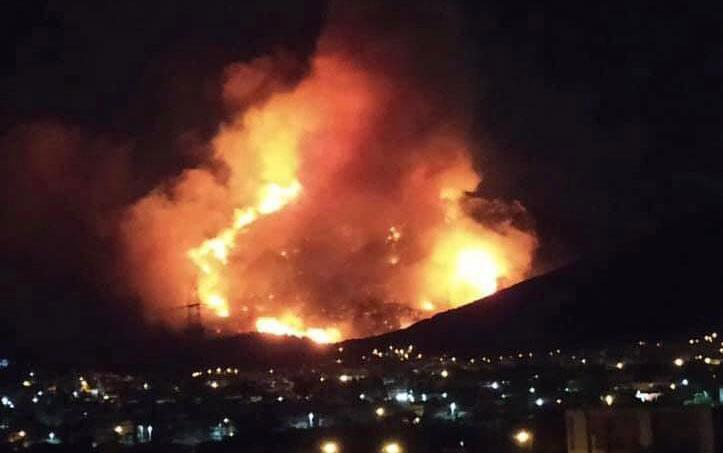 Firefighters tackle blaze on Mount Hymettos near Athens