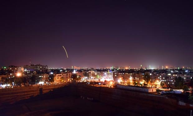 Syria blames Israel for missile attack in Damascus