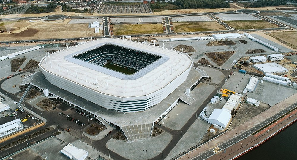 Russian city's dazzling new soccer stadium outshines its team