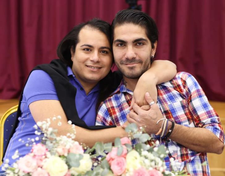 Kevork and Wemson first Cyprus gay couple to marry in prison