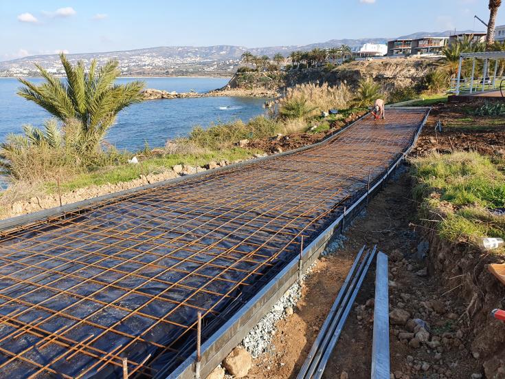 Work starts on Kissonerga coastal footpath