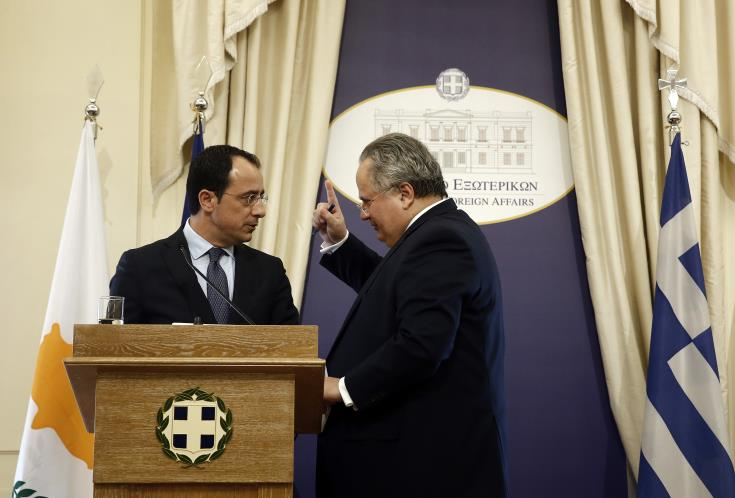 Cyprus and Greece FMs meet in Nicosia to discuss Cyprus issue