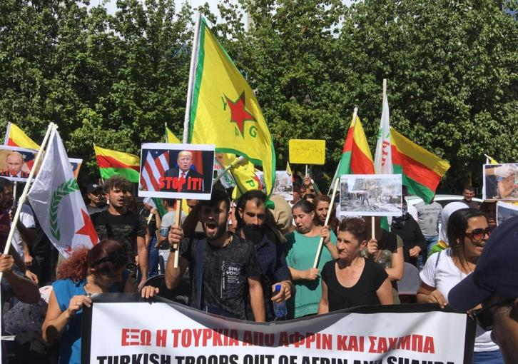 Kurds in Cyprus stage protest against Turkey's invasion of Syria (photos)