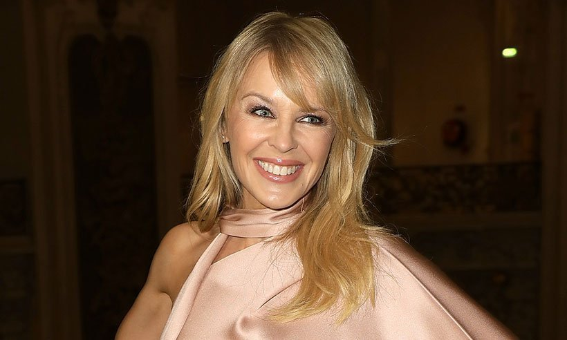 Kylie Minogue celebrates 50th birthday with nude snap
