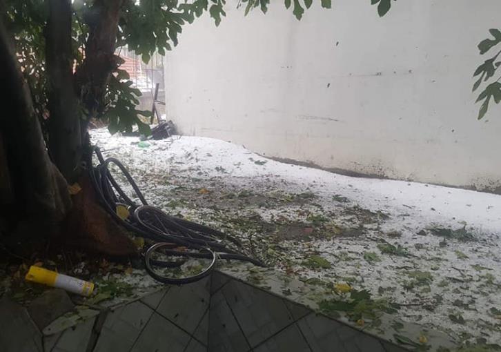Heavy hail in Kyperounta