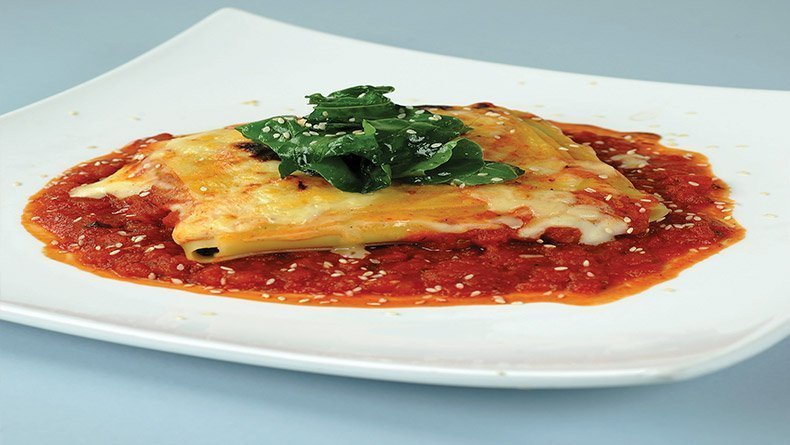 Lasagne with anari and spinach