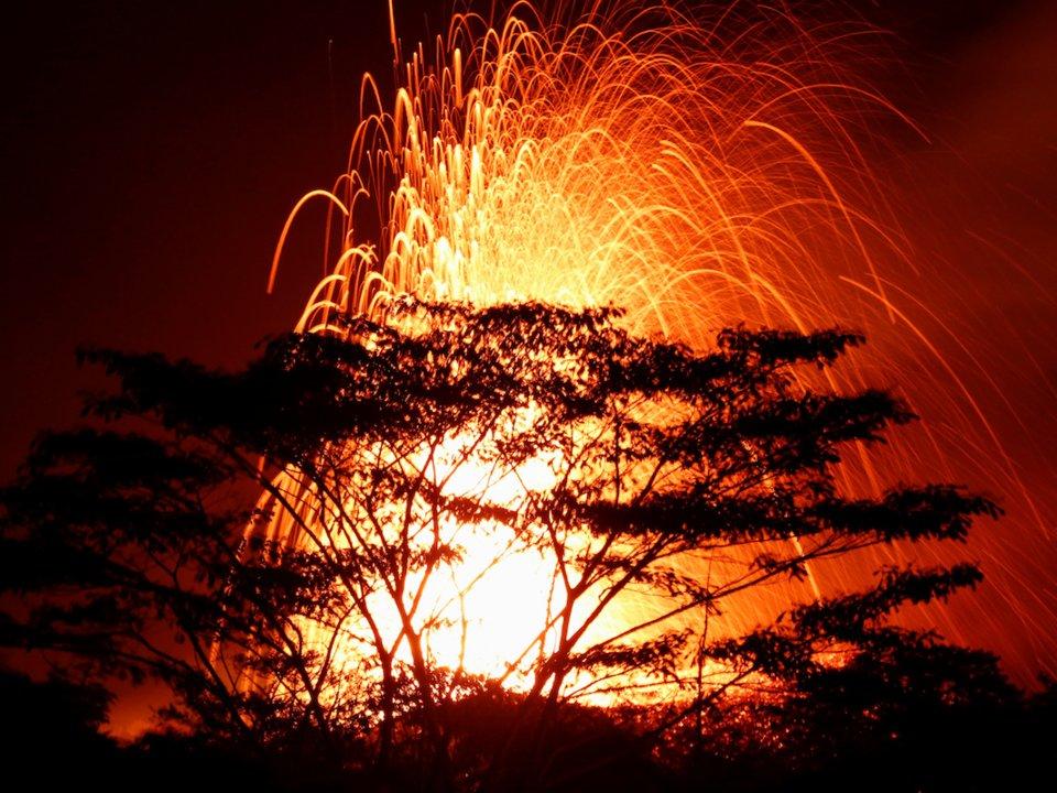 Volcano's gassy