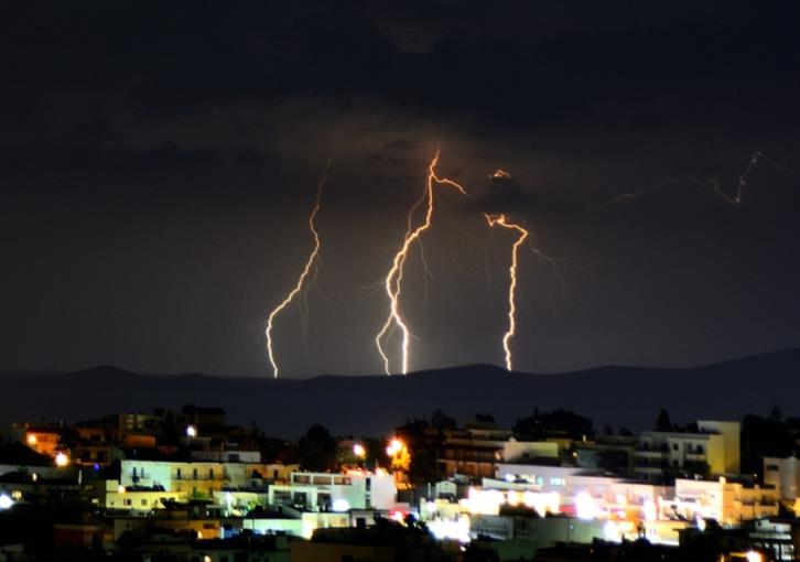 Increased lightning activity recorded in Eastern Mediterranean on Friday