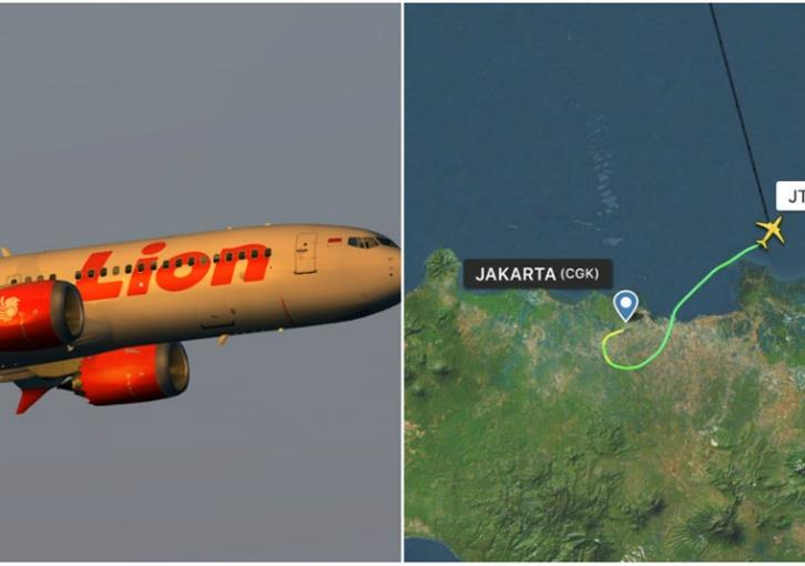 Indonesian plane with 189 aboard crashes into sea near Jakarta