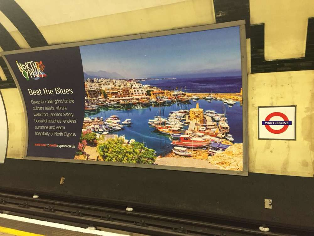 Protests over London tube and bus ads promoting holidays in Turkish-held north Cyprus