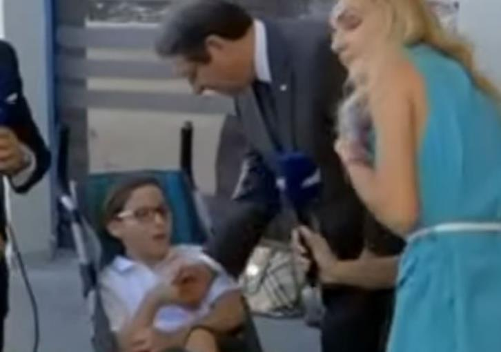Young Loukas takes problem with parking for disabled to President (video)