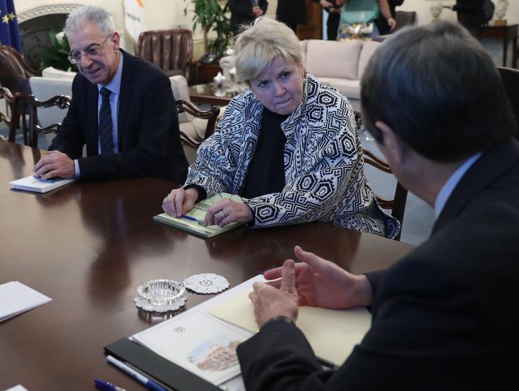 UN Cyprus envoy meets Anastasiades and Akinci