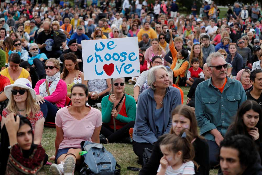 New Zealand reopens attacked mosques; many 'march for love' (pics)