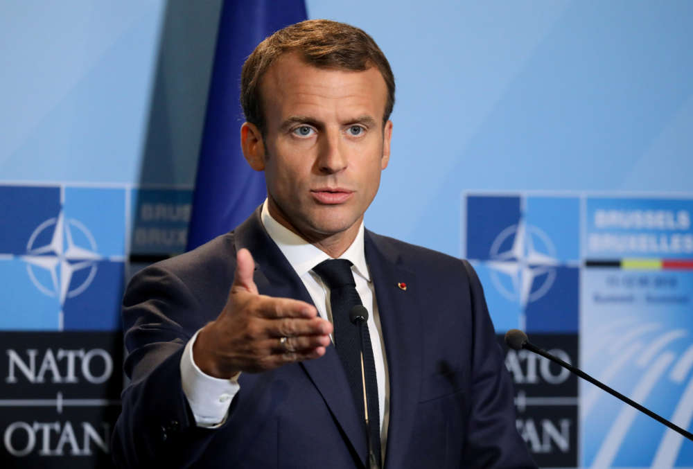 Macron accuses Turkey of working with Islamic State proxies