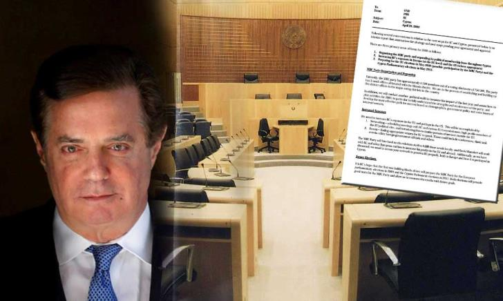 Manafort memo shows plan to promote Cypriot party