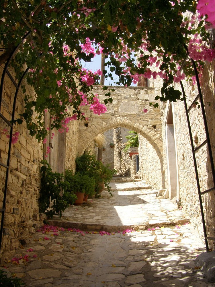 Walking through the most idyllic traditional Cypriot alleyways and narrow streets