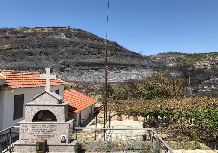 Small monastery of the Resurrection of the Saviour near Vouni unscathed by fire