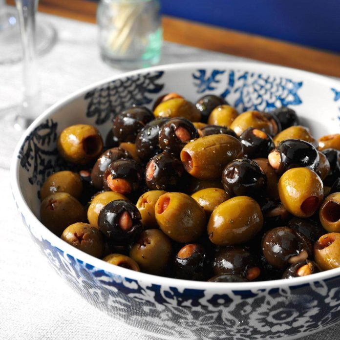Marinated Almond-Stuffed Olives