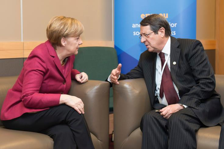 Cyprus President asks Merkel to convey message to Erdogan