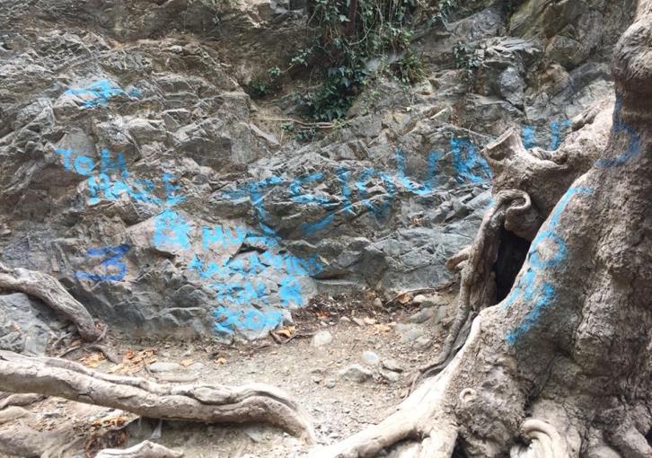 Millomeri waterfall site vandalised