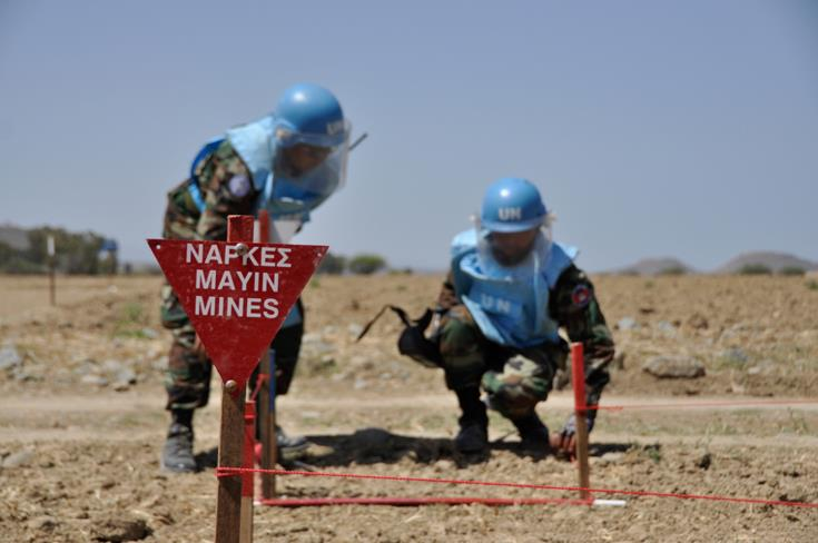 UN removed mines from divided island's nine suspected hazardous areas