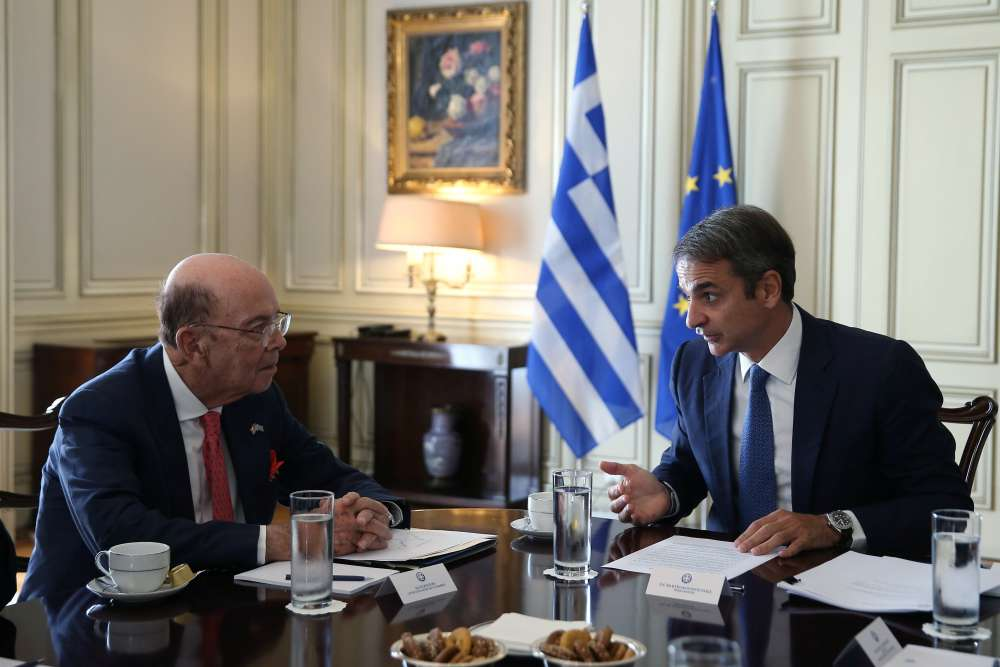 Mitsotakis-Ross talks focus on investment opportunities between US and Greece