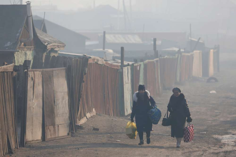 Desperate Mongolians send children into countryside to escape choking winter smog