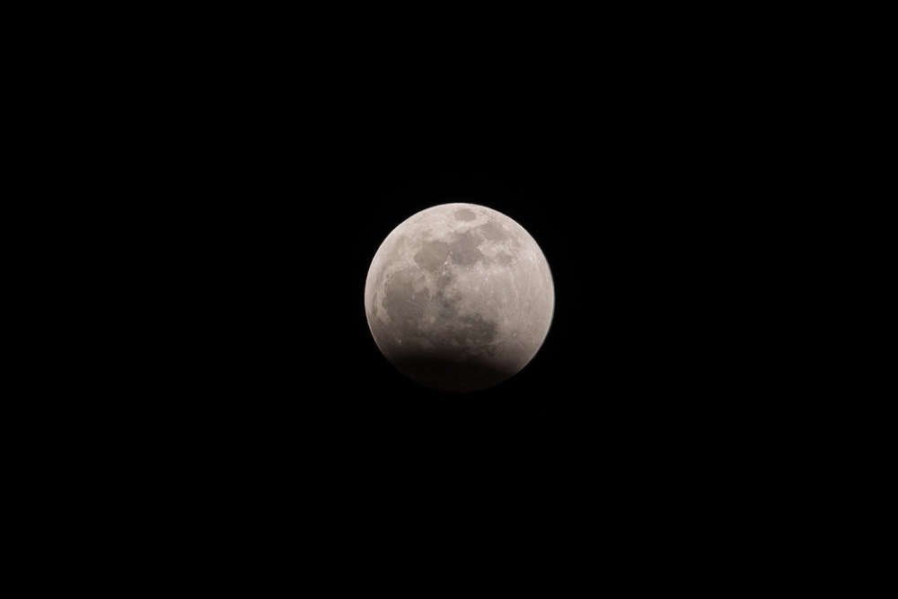 Year's first full moon with penumbral eclipse